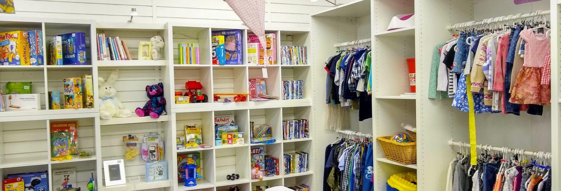 Interior of a baby shop