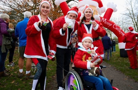 Some of our Santa Dashers at last year's event.