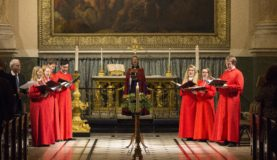 Trinity Choir performing at the Old Royal Naval College