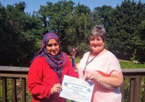 Volunteer With Award
